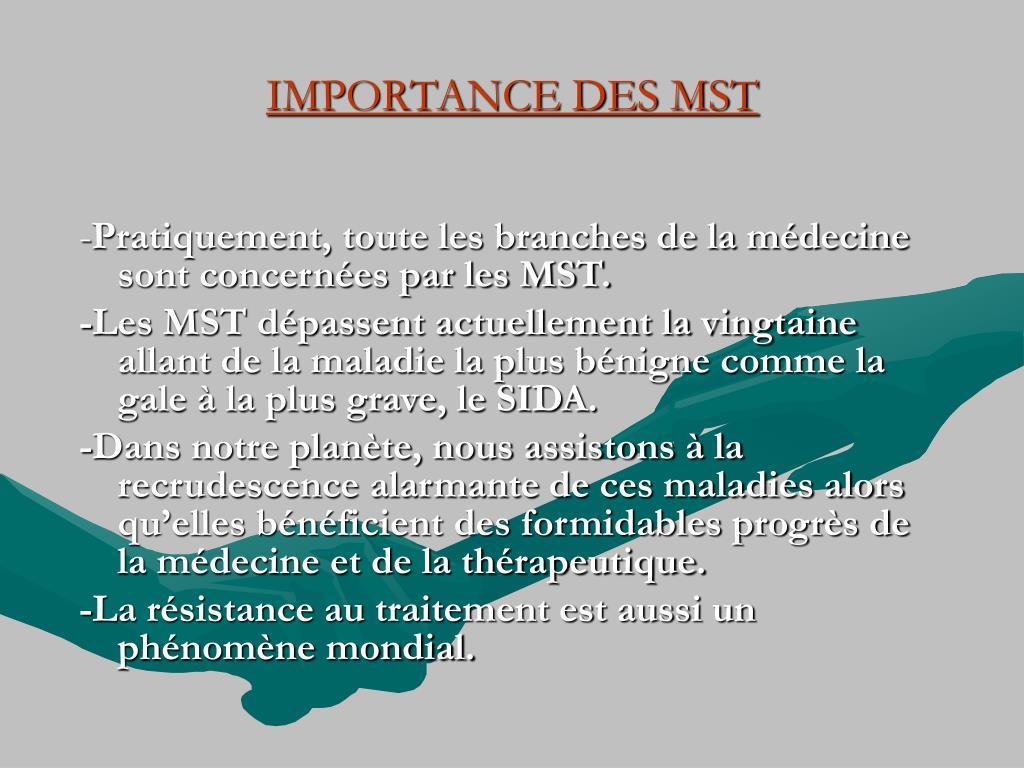 IMPORTANCE DES MST