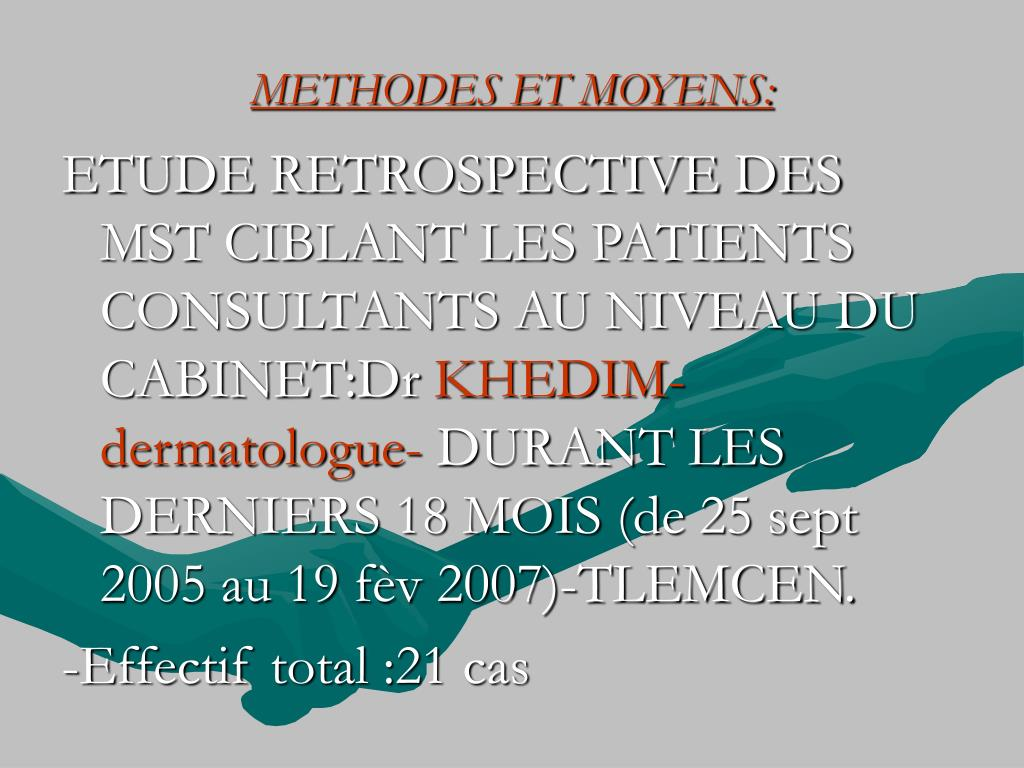 METHODES ET MOYENS:
