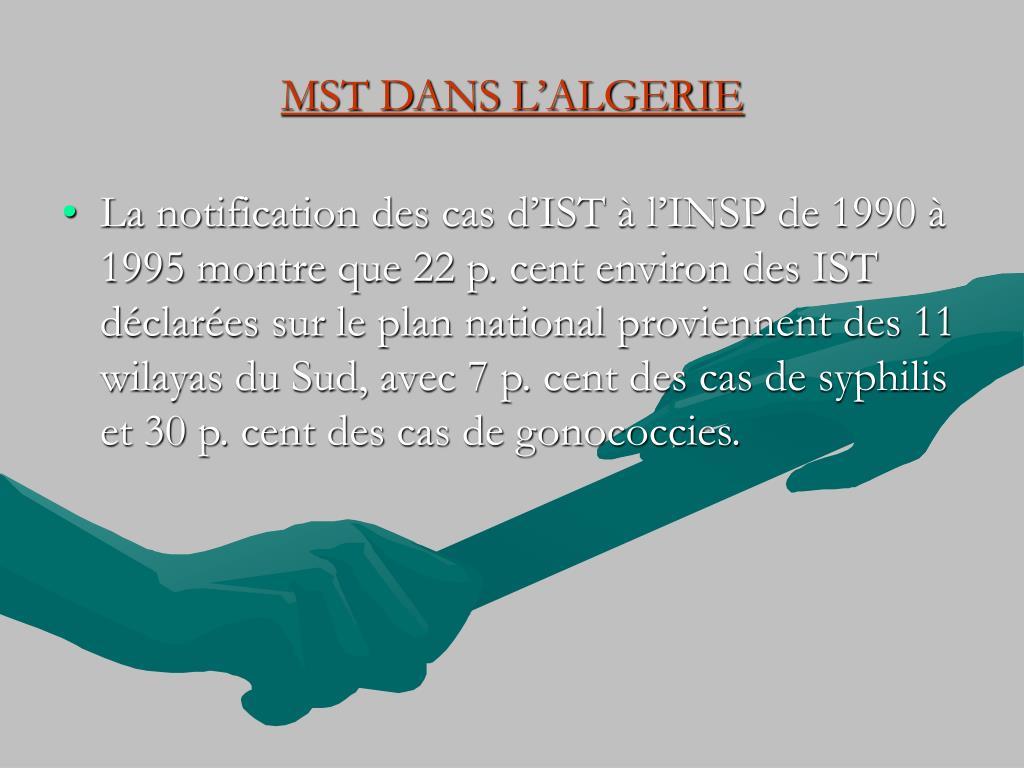 MST DANS L'ALGERIE