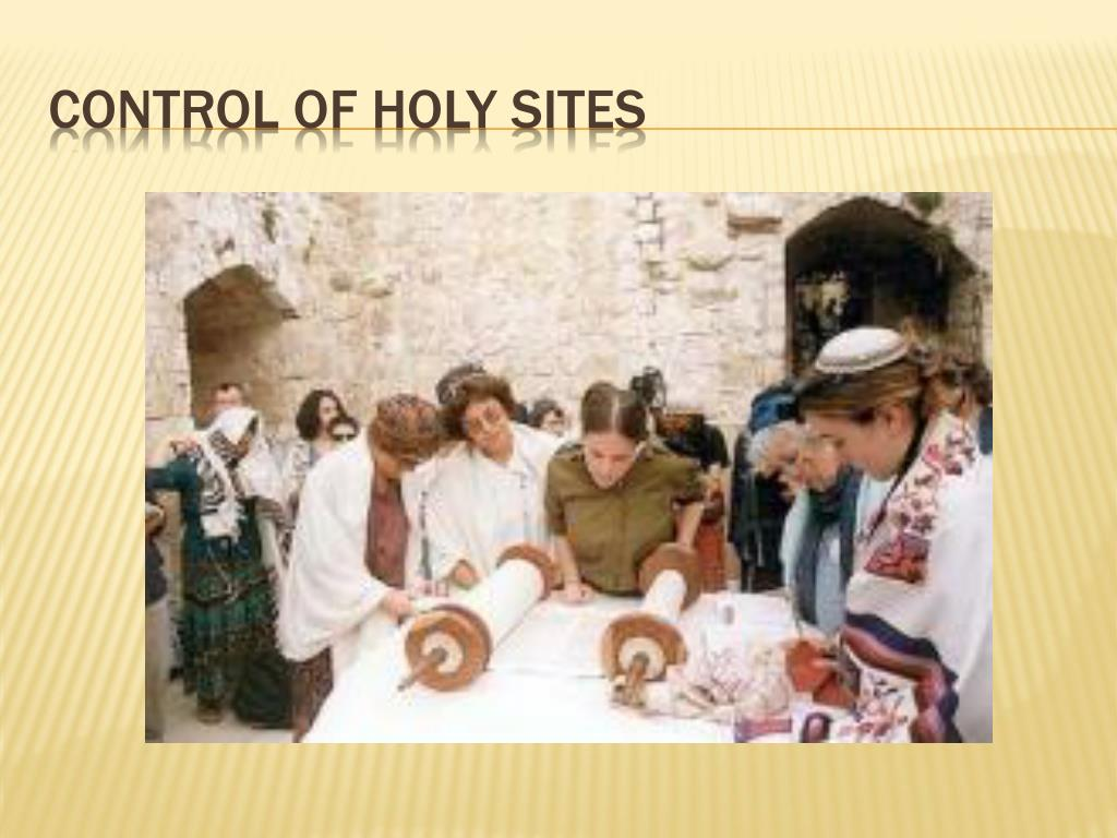 Control of Holy Sites