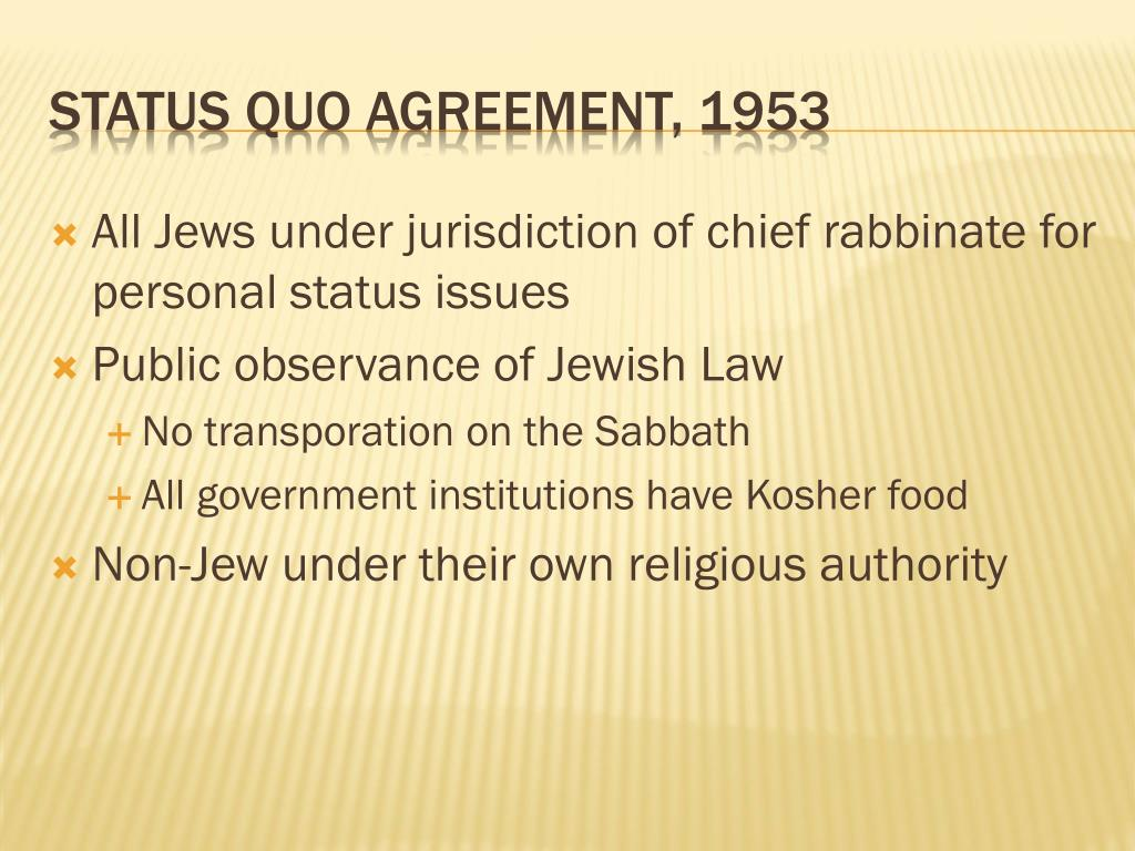 All Jews under jurisdiction of chief rabbinate for personal status issues