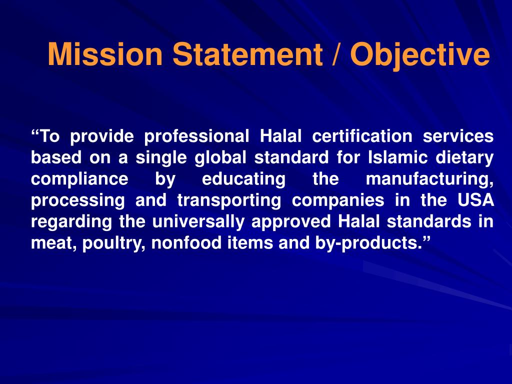Mission Statement / Objective