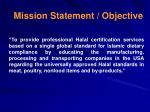 mission statement objective