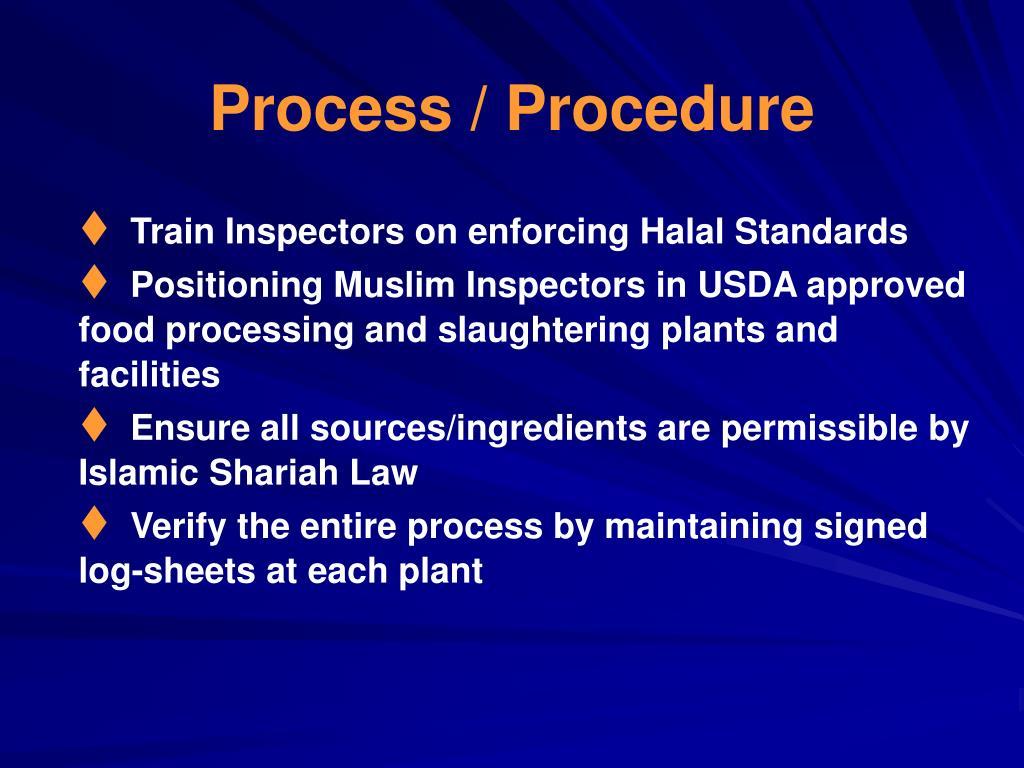 Process / Procedure