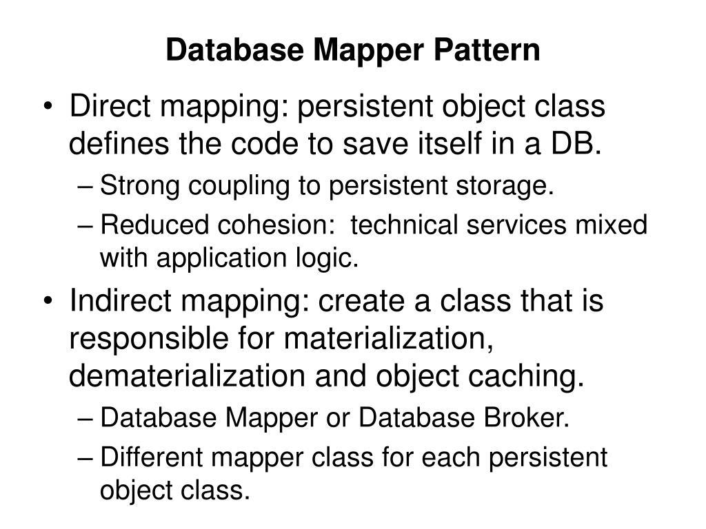 Database Mapper Pattern