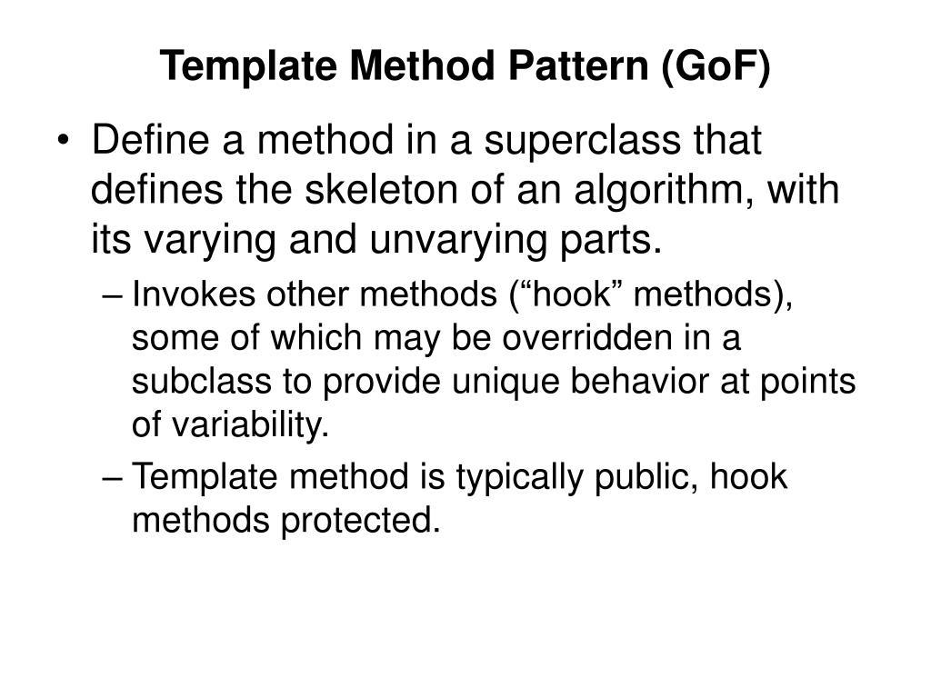 Template Method Pattern (GoF)