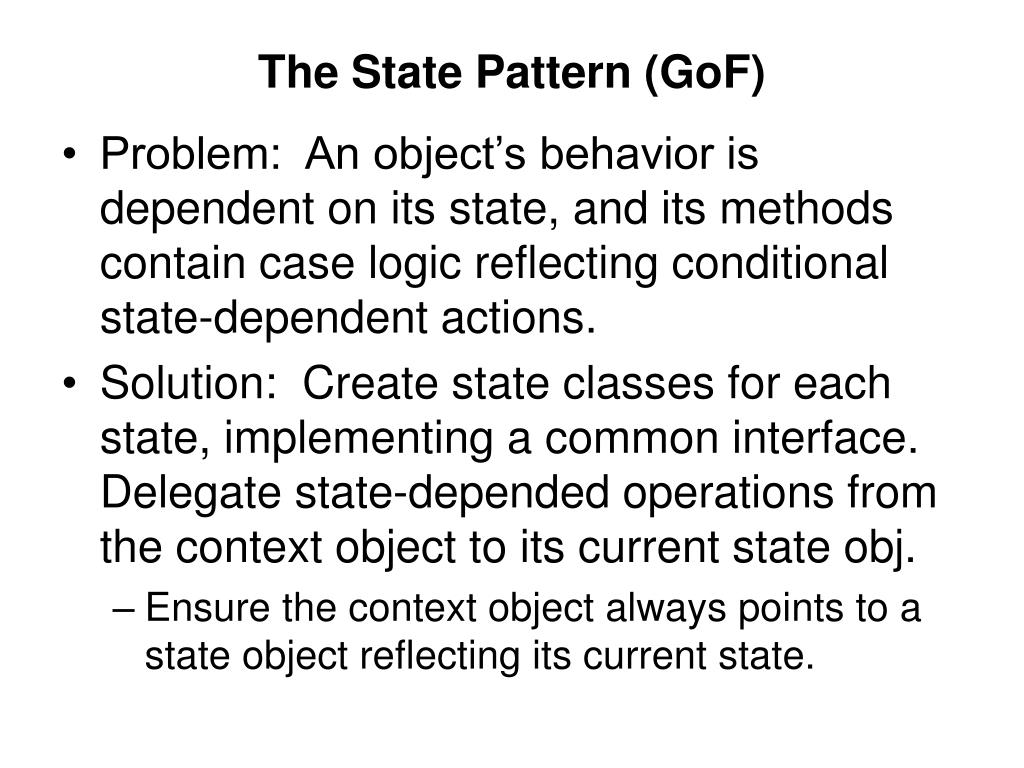 The State Pattern (GoF)