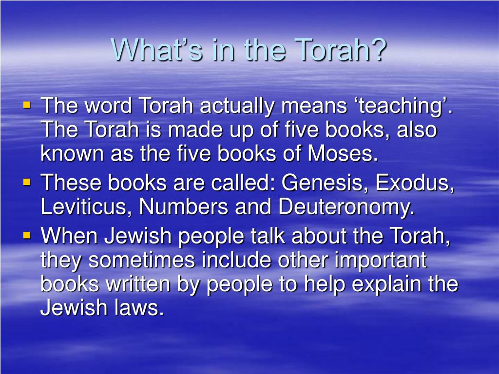 What's in the Torah?