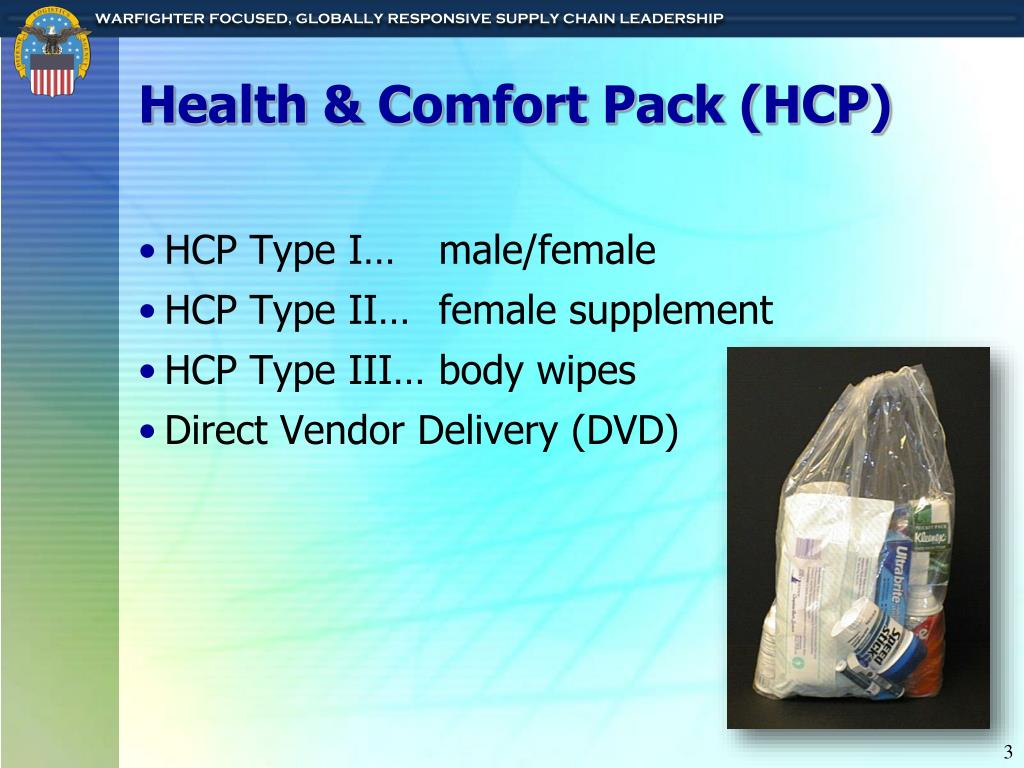 Health & Comfort Pack (HCP)