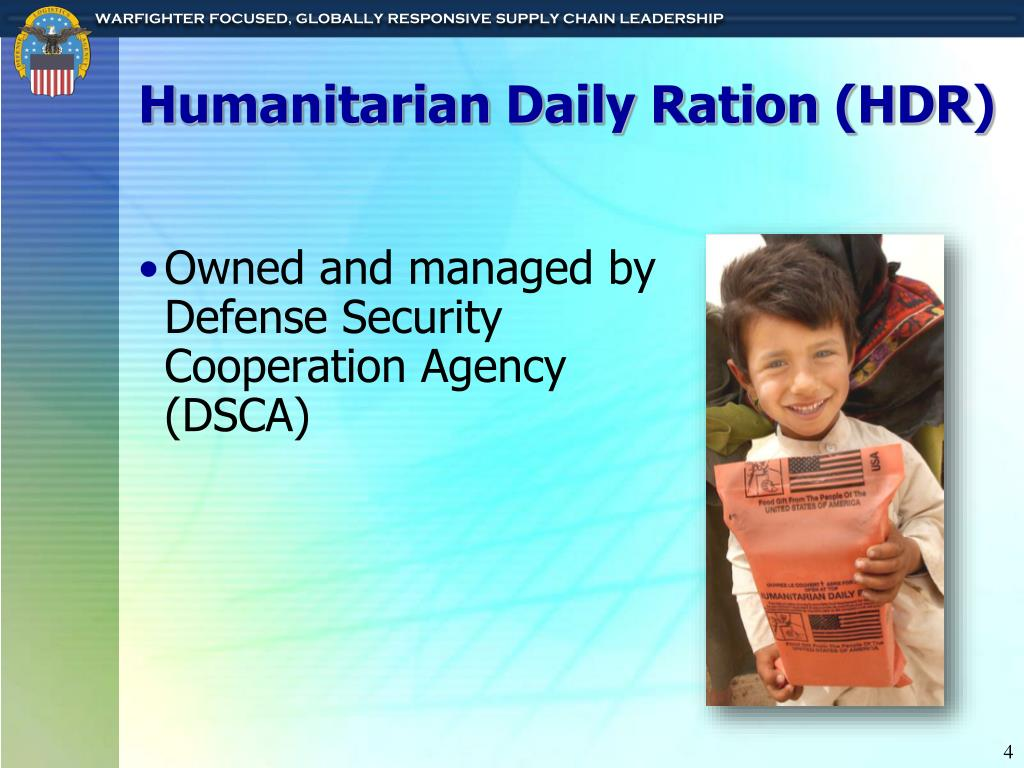 Humanitarian Daily Ration (HDR)