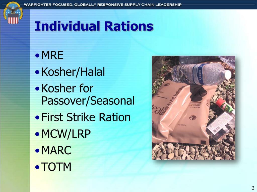 Individual Rations