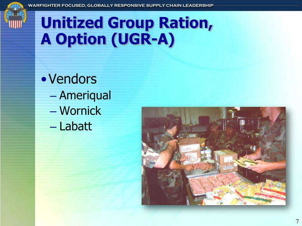 Unitized Group Ration,