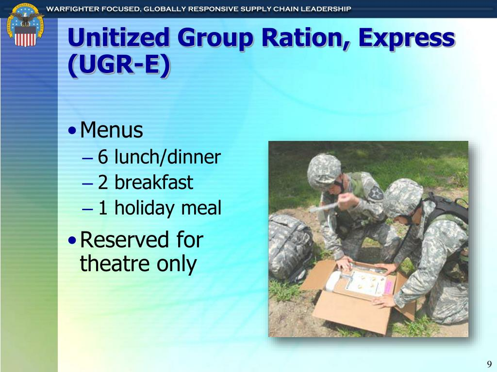 Unitized Group Ration, Express