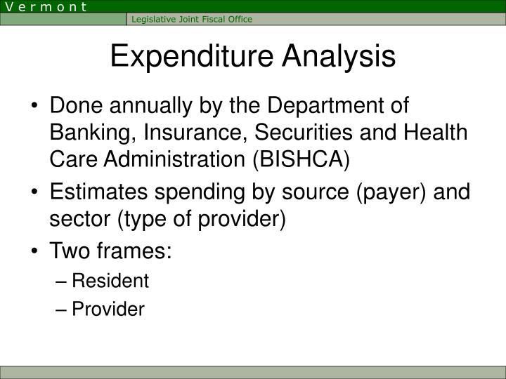 Expenditure Analysis