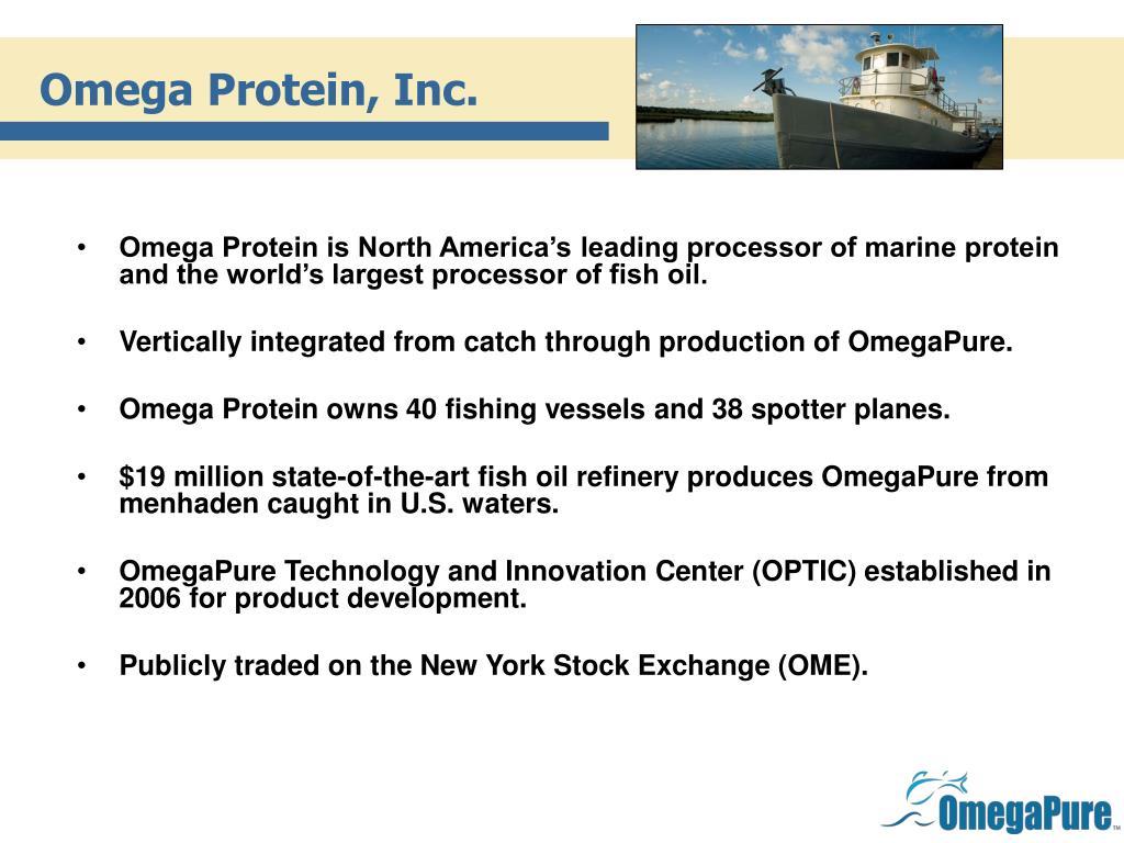 Omega Protein, Inc.