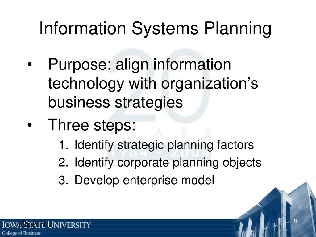 information systems planning 2011-4-3  management information systems, sixth edition chapter 12: systems planning and development management information systems, sixth edition management.
