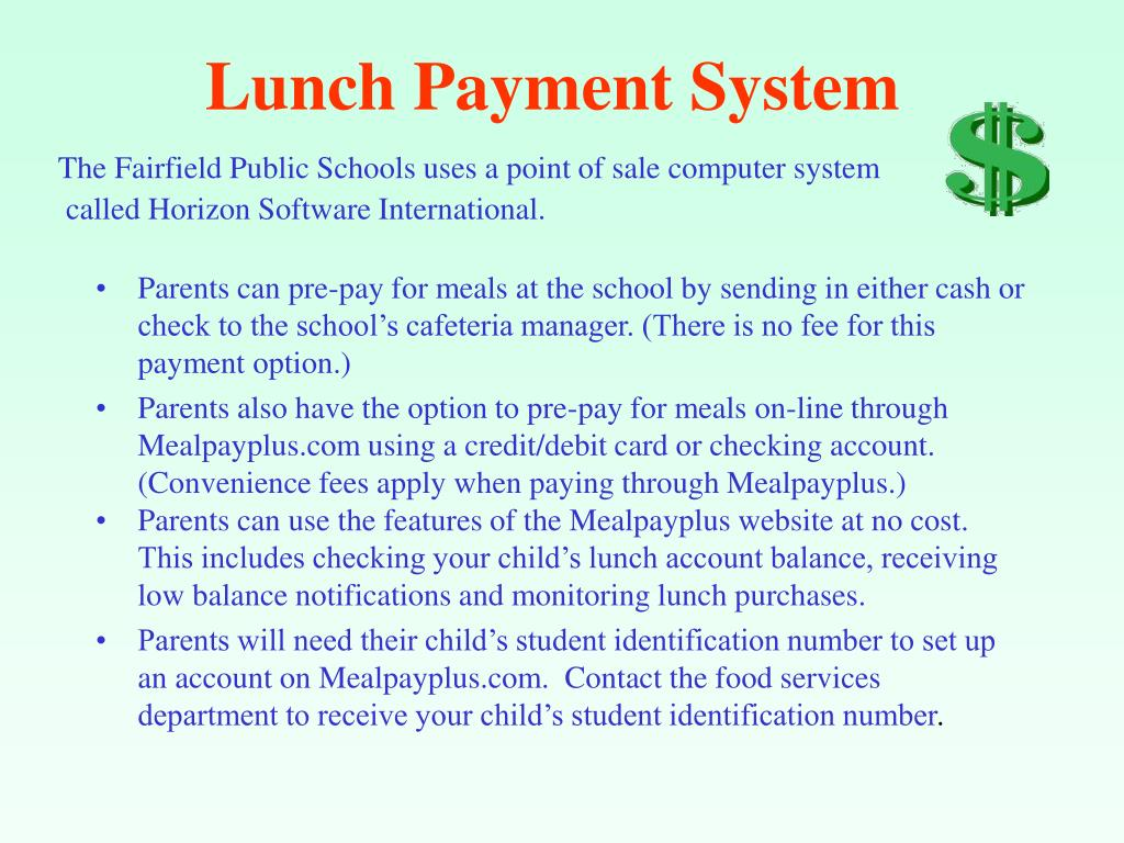 Lunch Payment System