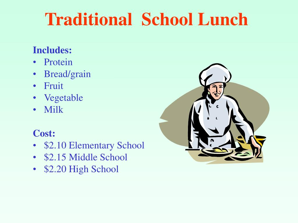 Traditional  School Lunch