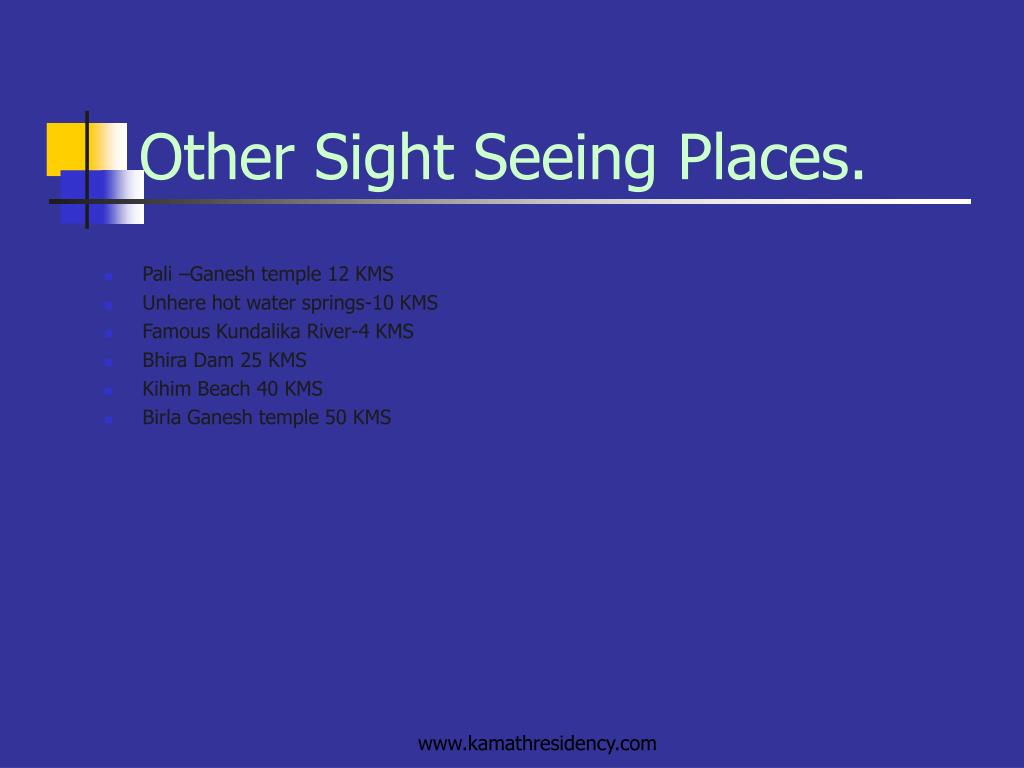 Other Sight Seeing Places.