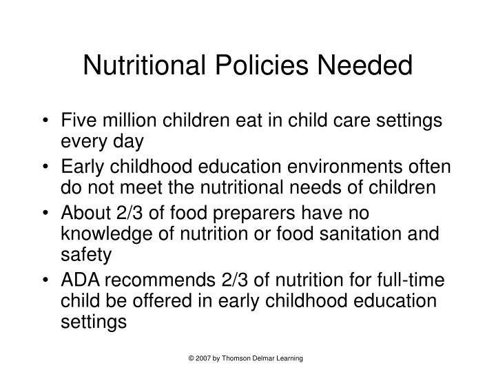 Nutritional policies needed