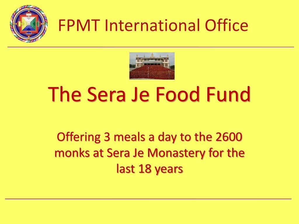 The Sera Je Food Fund