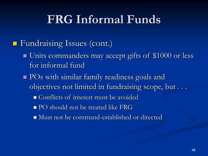 FRG Informal Funds