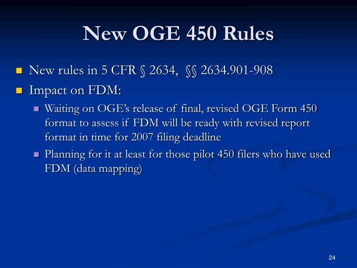 New OGE 450 Rules