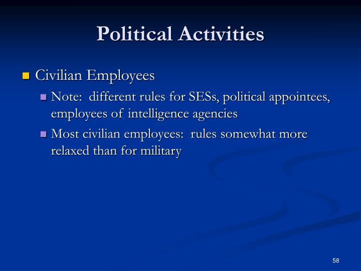 Political Activities