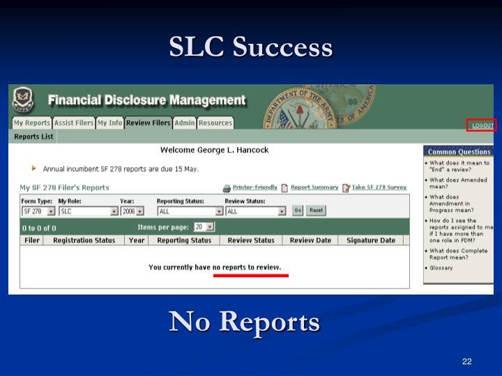 SLC Success