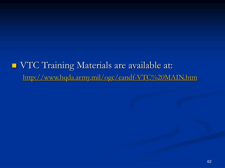 VTC Training Materials are available at: