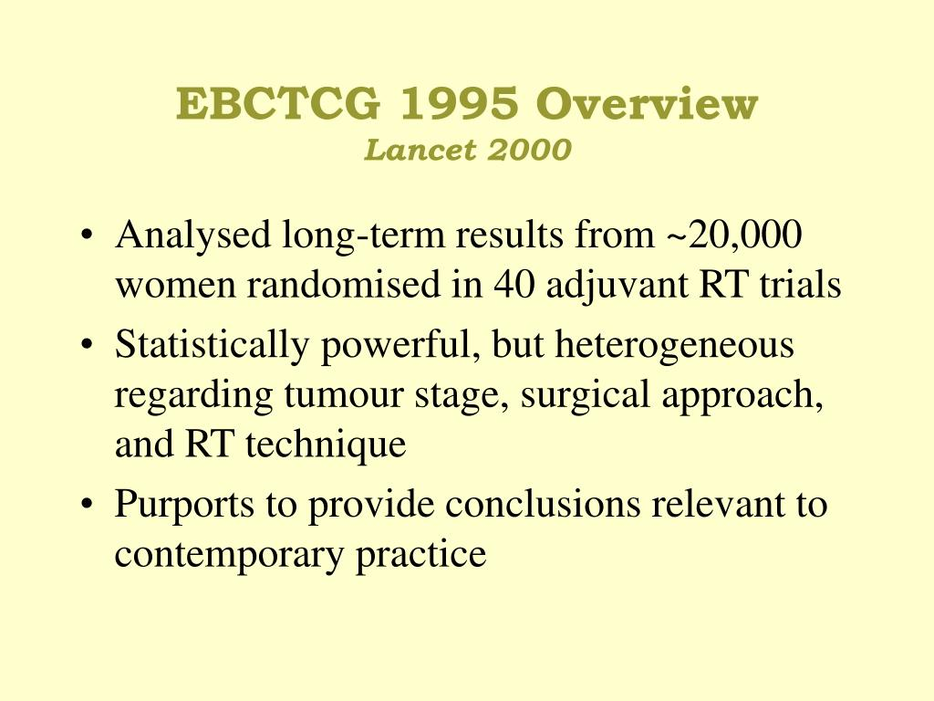 EBCTCG 1995 Overview