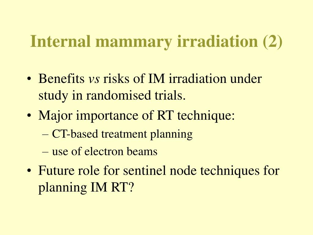 Internal mammary irradiation (2)