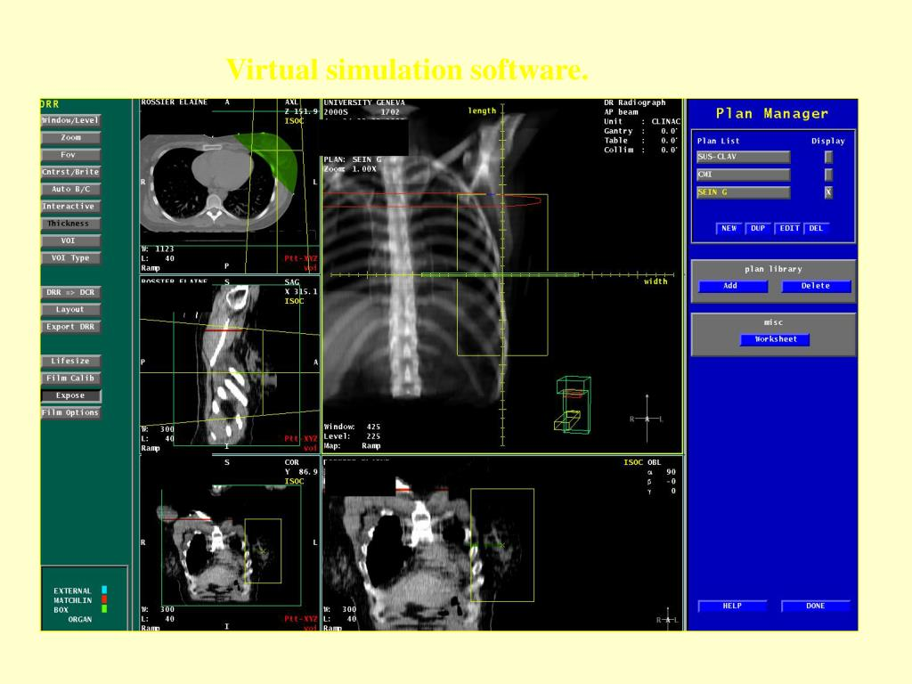 Virtual simulation software.