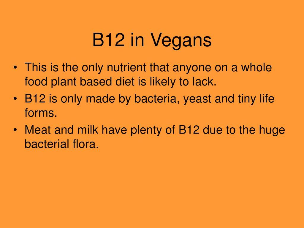 B12 in Vegans