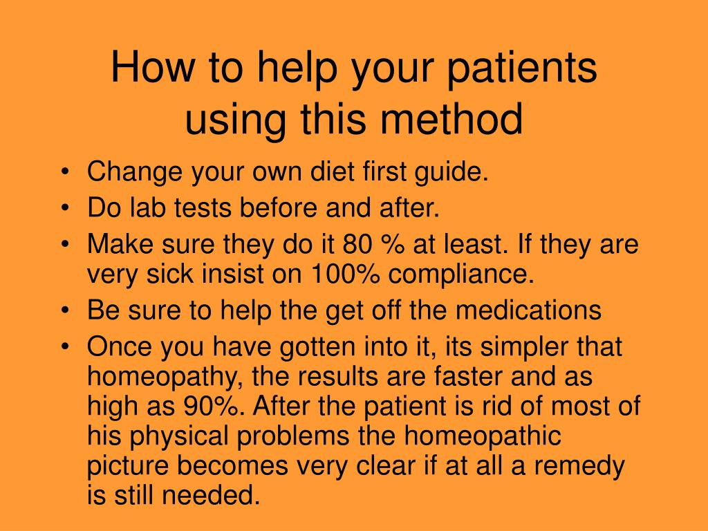 How to help your patients using this method