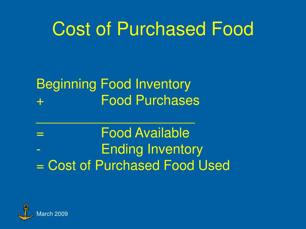 Cost of Purchased Food
