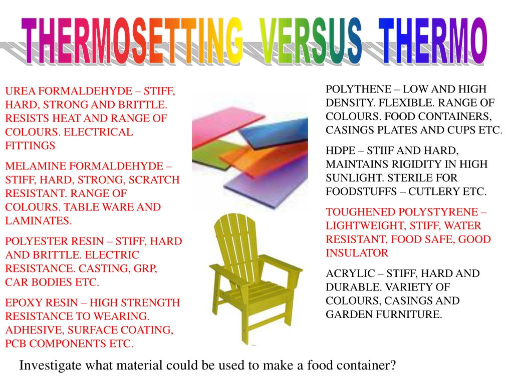 THERMOSETTING  VERSUS  THERMO