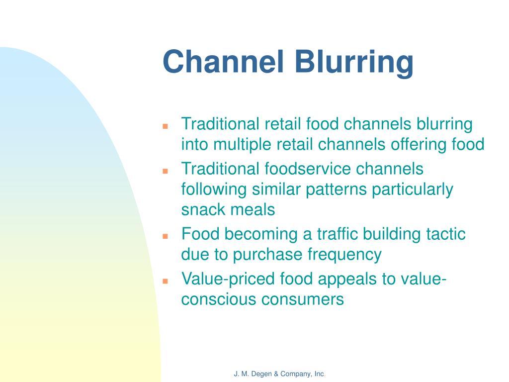 Channel Blurring