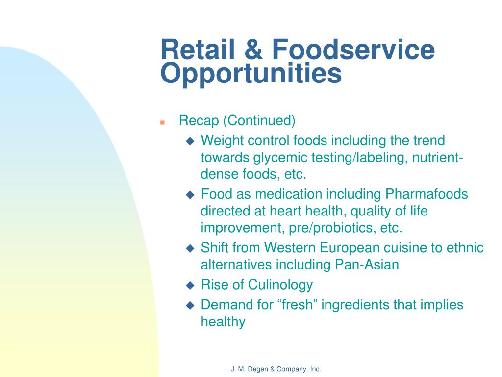 Retail & Foodservice Opportunities