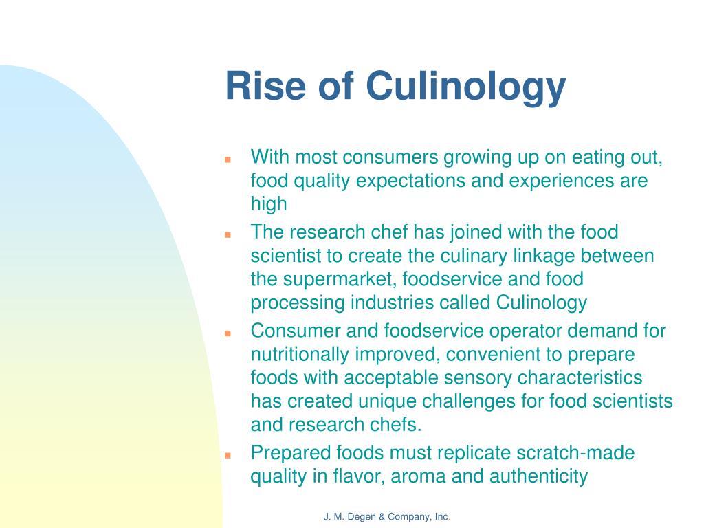 Rise of Culinology