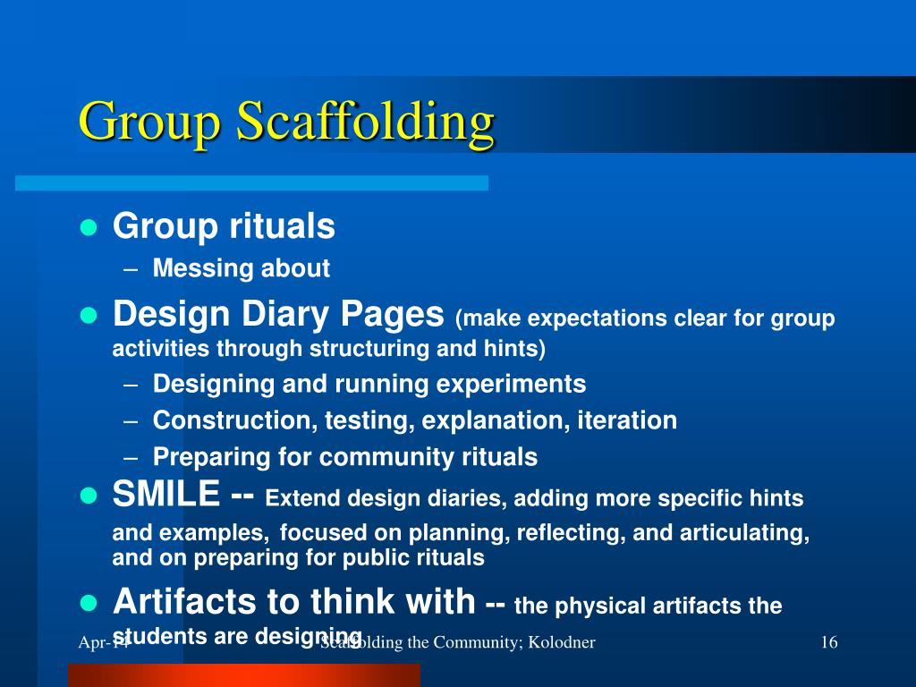 Group Scaffolding
