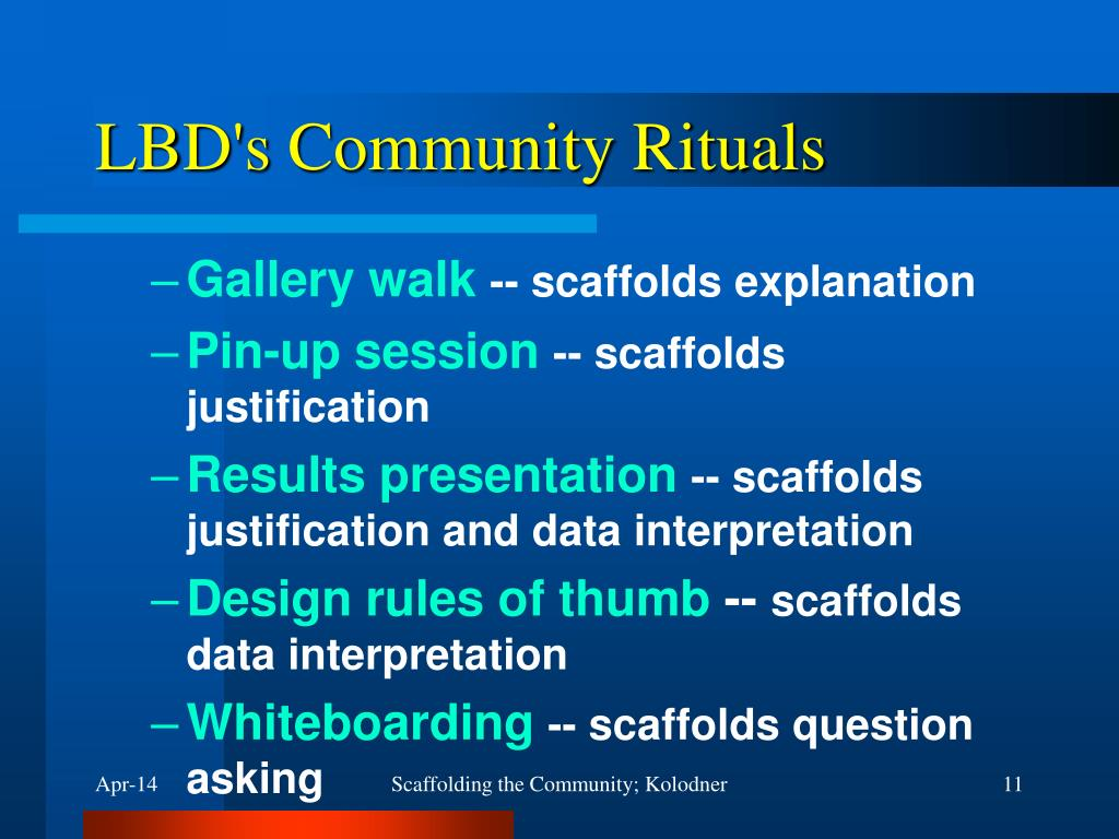 LBD's Community Rituals