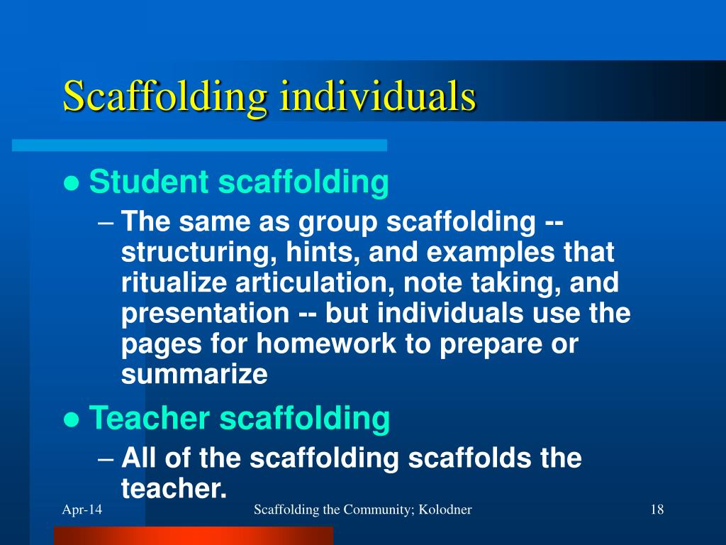Scaffolding individuals
