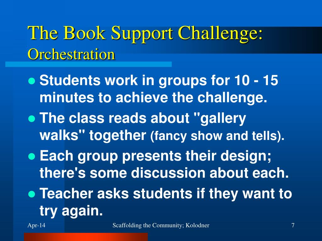 The Book Support Challenge: