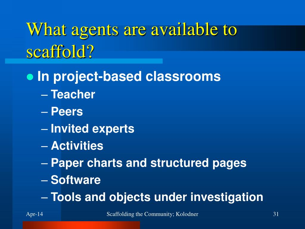 What agents are available to scaffold?