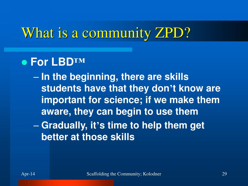 What is a community ZPD?