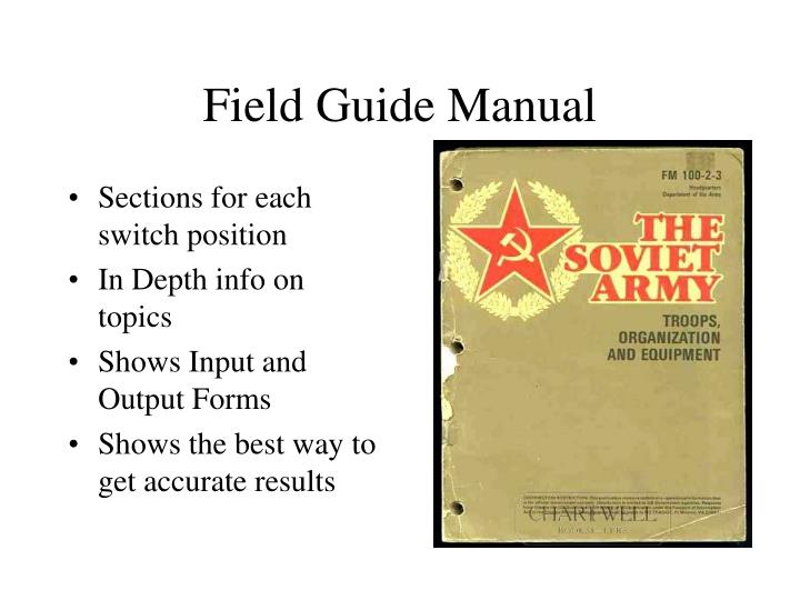 Field Guide Manual