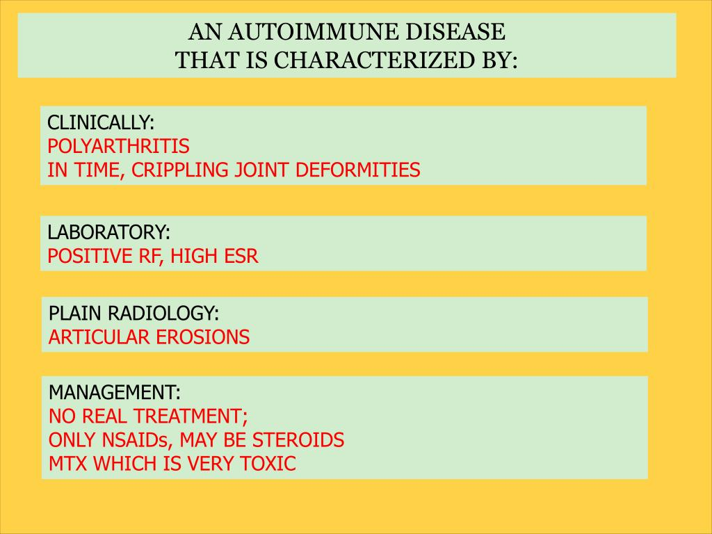 AN AUTOIMMUNE DISEASE