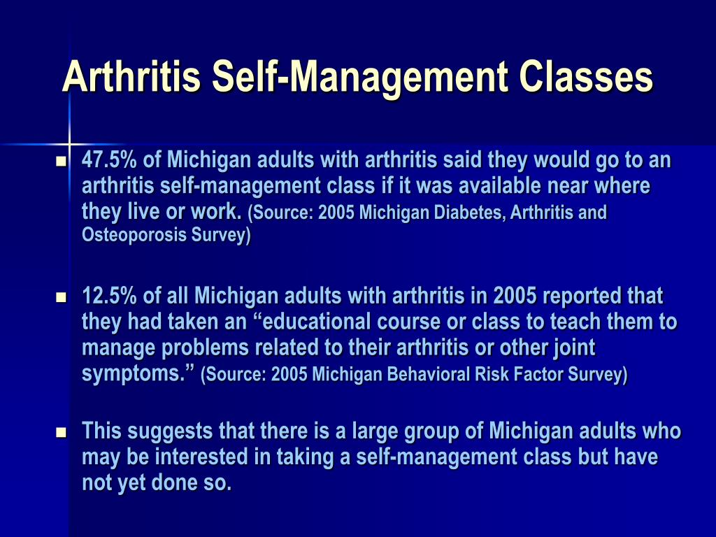 Arthritis Self-Management Classes