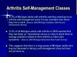 arthritis self management classes